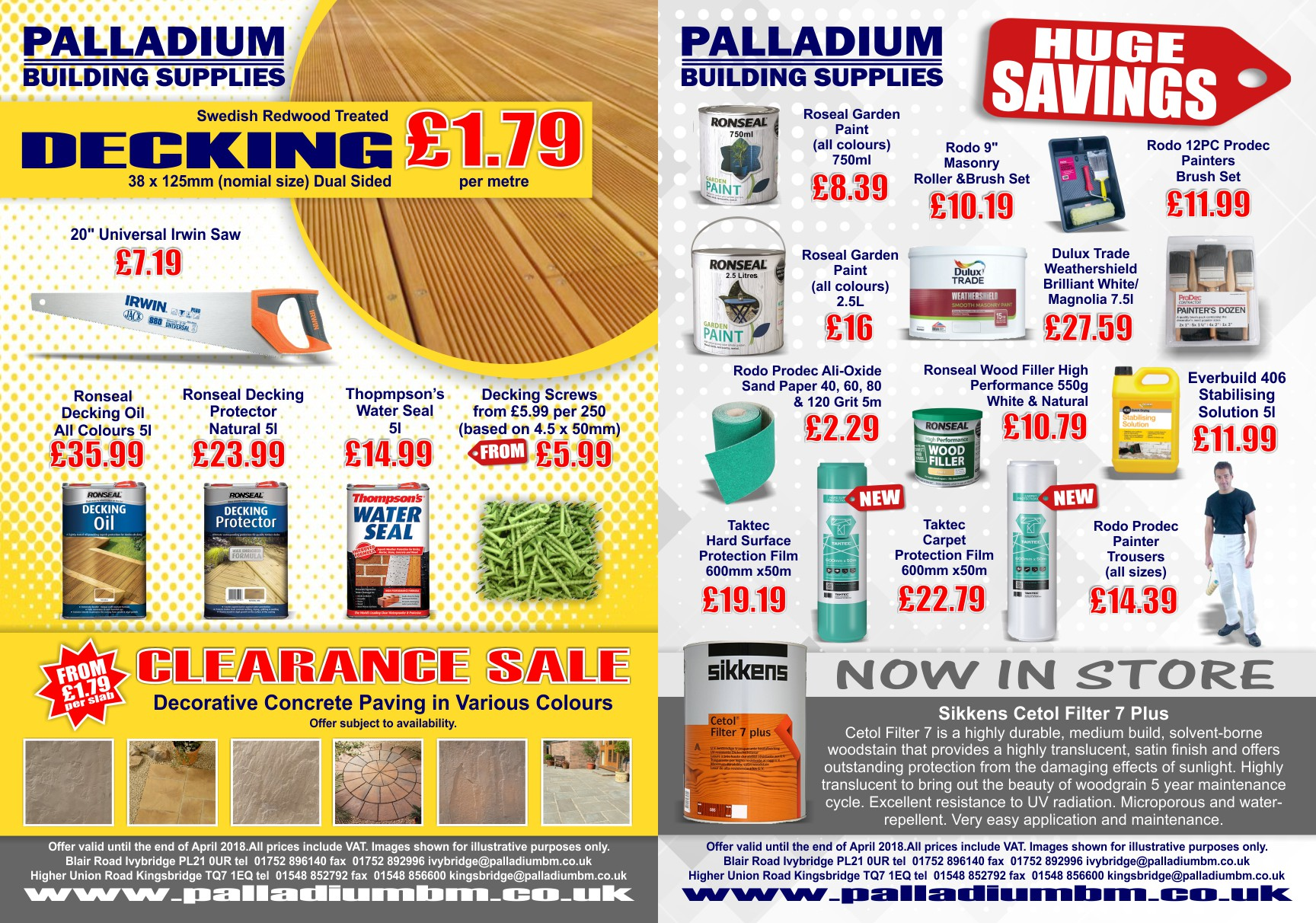 Feb, March & April Offer